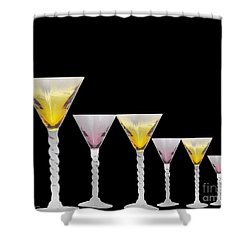 Glasses Shower Curtain by Cheryl Young