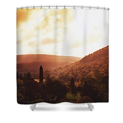 Glendalough, County Wicklow, Ireland Shower Curtain by The Irish Image Collection