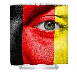 Go Belgium Shower Curtain by Semmick Photo