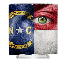 Go North Carolina Shower Curtain by Semmick Photo