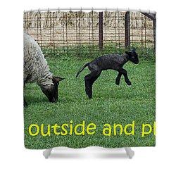 Go Outside And Play Shower Curtain by LeeAnn McLaneGoetz McLaneGoetzStudioLLCcom