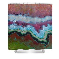 Go With The Flow 2 Shower Curtain by Linda Krukar