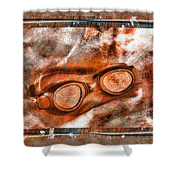 Goggles Shower Curtain by Mauro Celotti