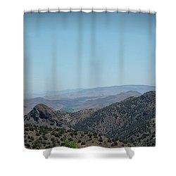 Gold In The Hills Virginia City Nv Shower Curtain by LeeAnn McLaneGoetz McLaneGoetzStudioLLCcom