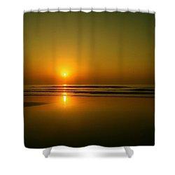 Golden Sunrise Shower Curtain by Darren Cole Butcher