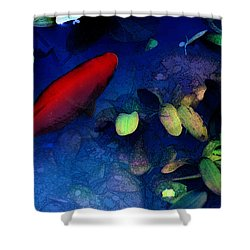 Goldfish Shower Curtain by Ron Jones