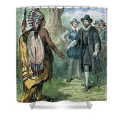 Governor John Winthrop Shower Curtain by Granger