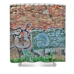 Graffiti Shower Curtain by Kathleen Struckle