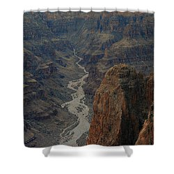 Grand Canyon-aerial Perspective Shower Curtain by Douglas Barnard