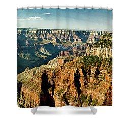 Grand Canyon Angel Panorama Shower Curtain by Bob and Nadine Johnston