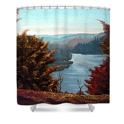 Grand River Look-out Shower Curtain by Hanne Lore Koehler