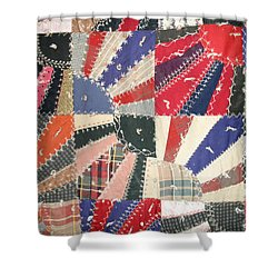 Grandma Baird's Quilt Shower Curtain by Wayne Potrafka