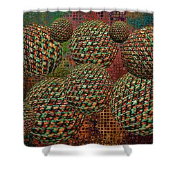 Gravity Chamber Shower Curtain by Debbie Portwood