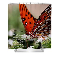Great Friends Card Shower Curtain by Travis Truelove