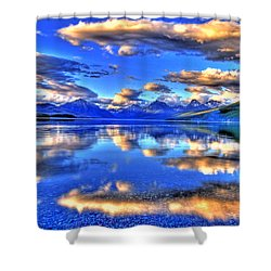 Great Glacier Lake Shower Curtain by Scott Mahon