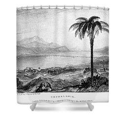 Greece: Kefalonia, 1833 Shower Curtain by Granger