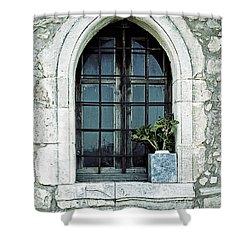 Greek Chapel Shower Curtain by Joana Kruse