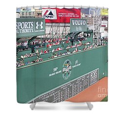 Green Monster Shower Curtain by Kevin Fortier