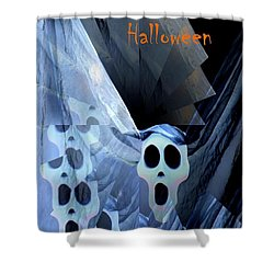 Greeting Card - Lost Souls Shower Curtain by Maria Urso