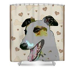 Greyhound Shower Curtain by One Rude Dawg Orcutt