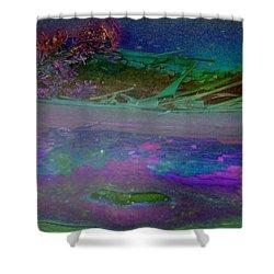 Shower Curtain featuring the digital art Grow by Richard Laeton
