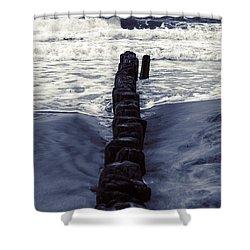 Groyne Shower Curtain by Joana Kruse