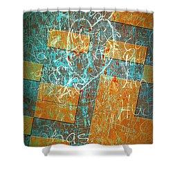 Grunge Background 6 Shower Curtain by Carlos Caetano