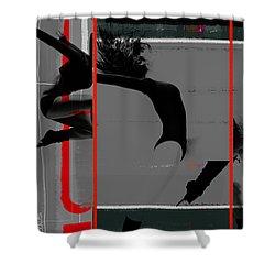 Gymnastics Shower Curtain by Naxart Studio