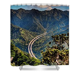 H-3 From The Aiea Loop Trail Shower Curtain by Dan McManus