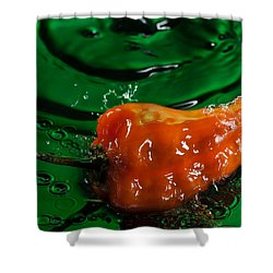 Habanero Pepper Freshsplash 2 Shower Curtain by Steve Gadomski