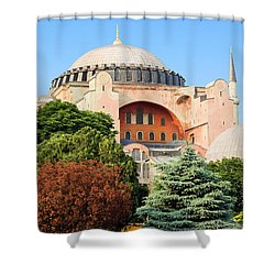 Hagia Sophia Shower Curtain by Artur Bogacki