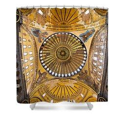 Hagia Sophia Ceiling Shower Curtain by Artur Bogacki