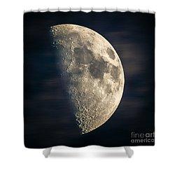 half moon III Shower Curtain by Hannes Cmarits