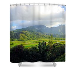 Hanalei Valley View Shower Curtain by John  Greaves
