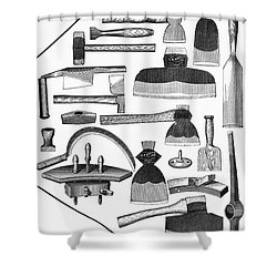 Hand Tools, 1876 Shower Curtain by Granger
