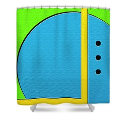 Happily Shower Curtain by Ely Arsha