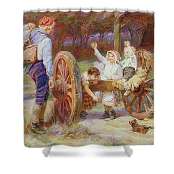 Happy As The Days Are Long Shower Curtain by Frederick Morgan