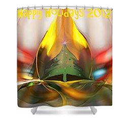 Happy Holidays 2012 Shower Curtain by David Lane