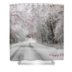 Happy Holidays - Clarks Valley Shower Curtain by Lori Deiter