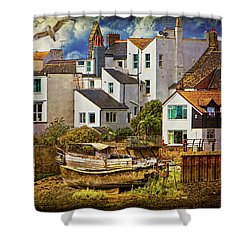 Harbor Houses Shower Curtain by Chris Lord