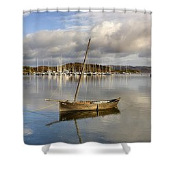 Harbour In Tarbert Scotland, Uk Shower Curtain by John Short
