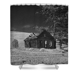 Haunted House Shower Curtain by Anne Mott