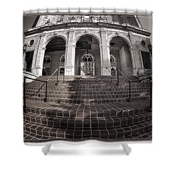 Haunted House Shower Curtain by Joan Carroll