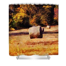 Hay Bales Shower Curtain by Jai Johnson
