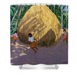 Haystack Shower Curtain by Andrew Macara