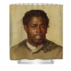 Head Of A Man Shower Curtain by John Singleton Copley