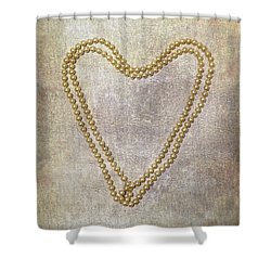 Heart Of Pearls Shower Curtain by Joana Kruse