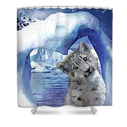 Heart Warmer Card Shower Curtain by Carol Cavalaris