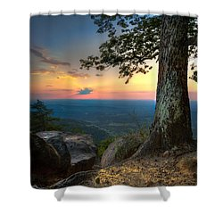 Heaven On Earth Shower Curtain by Debra and Dave Vanderlaan