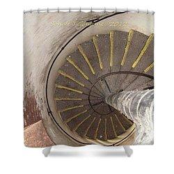Helical Stairway Shower Curtain by Sonali Gangane
